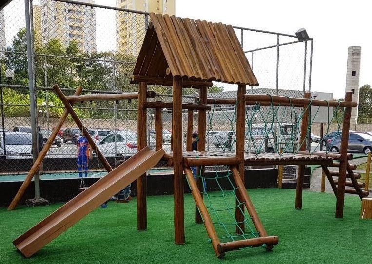 Playground de Madeira com Ponte - Bemboladas