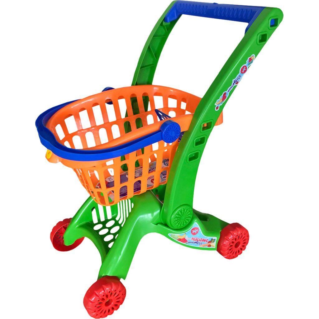 Carrinho de Compras Brinquedoteca - Envio Imediato