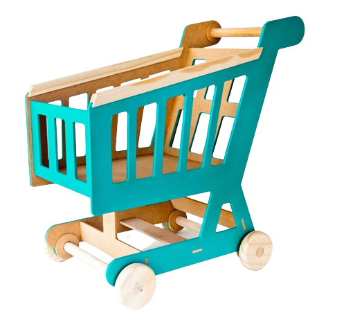 Carrinho de Supermercado em Madeira - Bemboladas