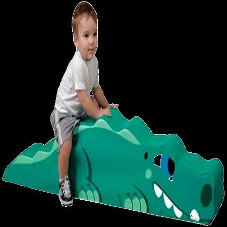 Pufe Crocodilo Espumado Bemboladas - Envio Imediato