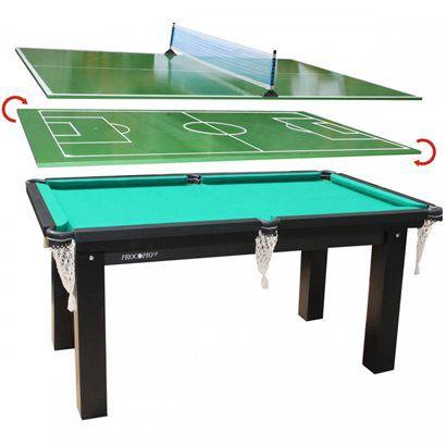 Mesa Multijogos Procópio: Sinuca, Tênis de Mesa e Futebol de Botão