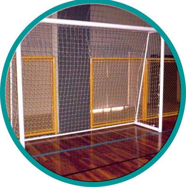 Par de Rede Futsal 4mm  - Bemboladas