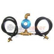 Central de Gás GLP - 2 P45 - Chicote 1metro - Regulador Aliança 7Kg/h - Ref: 01185