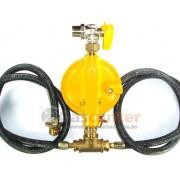 Central de Gás GLP - 2 P45-LIQUIGÁS - Chicote 1metro - Regulador ALIANÇA 12Kg/h - Ref: 01330