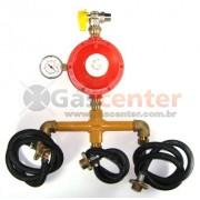 Central de Gás GLP - 3 P45-LIQUIGÁS - Regulador ALIANÇA ALTA PRESSÃO 15Kg/h - Ref: 01567