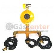 Central de Gás GLP - 3 P45 - Regulador ALIANÇA 12Kg/h - Ref: 01551