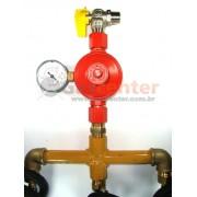 Central de Gás GLP - 3 P45 - Regulador ALIANÇA ALTA PRESSÃO 9Kg/h - Ref: 01555