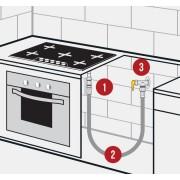 Kit Fogão/Cooktop Apartamento - Flexivel Malha de Aço - Rosqueado - de 60cm à 2,00m