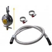 Kit Gás Doméstico - Regulador ALIANÇA 2Kg 506/01 - Flexível Malha de Aço - de 1,20m à 5,00m