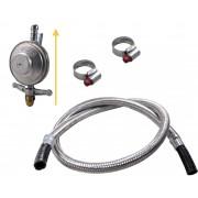 Kit Gás Doméstico - Regulador VINIGÁS 1Kg EXCEL - Flexível Malha de Aço - de 1,20m à 5,00m