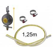 Kit Gás Doméstico - Regulador VINIGÁS 2Kg MAX - Mangueira Normatizada 1,25m - Ref: 00524