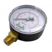 Manômetro de Gás - 0 a 10Kgf/cm² (140psi) - Rosca 1/4
