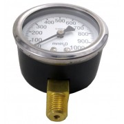 Manômetro de Gás - 0 a 1000mmca (10kPa) - Rosca 1/4