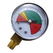 Manômetro de Gás - 0 a 8Kgf/cm² (125psi) - Rosca 1/8