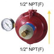Regulador de Gás ALIANÇA - 15Kg/h - GLP - 76511/2 VMM - Ref. 02301