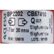 Regulador de Gás CLESSE - 15kg/h - GLP - BP2202 com OPSO - Ref. 02718
