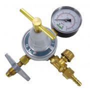Regulador de Gás para Botijão P13 com Registro - FAMABRAS - Ref. 02661