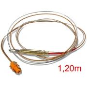 Termopar/Sensor de Chama COAXIAL - 1,20m - Encaixe - Ref. 02793