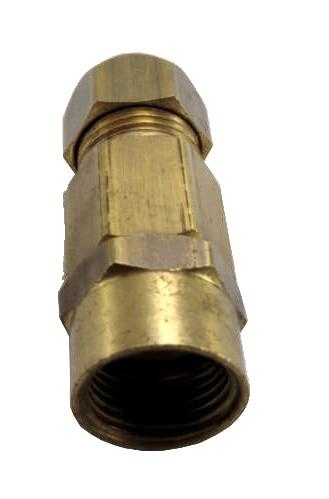 """Adaptador para Mangueiras Flexíveis JACKWAL 1/2""""NPT(M) x Bico Fogão - Válvula de Segurança - Ref. 02372"""