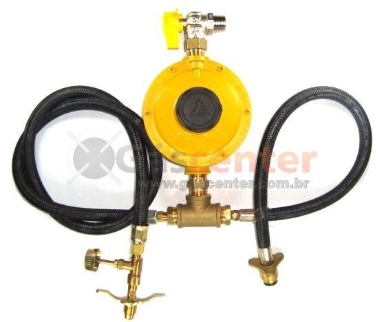 Central de Gás GLP - 1P13 + 1P45 - Regulador ALIANÇA 12Kg/h - Ref. 01362