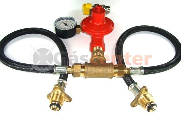 Central de Gás GLP - 2 P45 - Regulador ALIANÇA ALTA PRESSÃO 9Kg/h - Ref: 01574