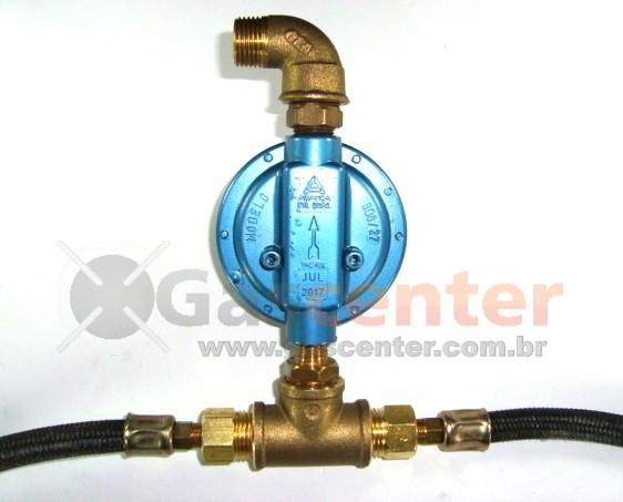 Central de Gás GLP - 2 P45-LIQUIGÁS - Chicote 50cm - Regulador Aliança 7Kg/h - Ref: 01182