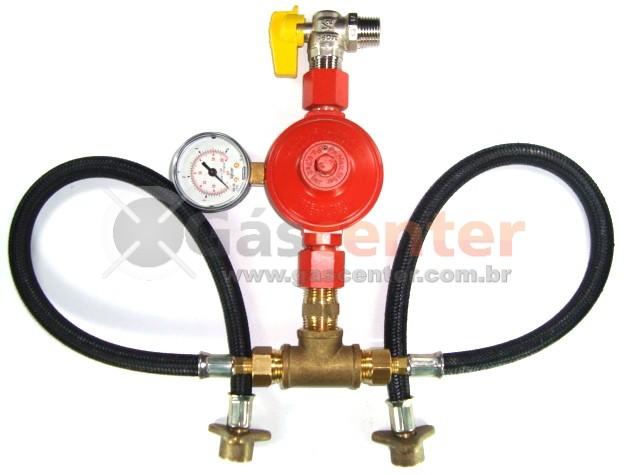 Central de Gás GLP - 2 P45-LIQUIGÁS - Regulador ALIANÇA ALTA PRESSÃO 9Kg/h - Ref: 01575