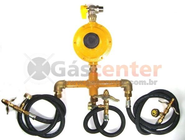 Central de Gás GLP - 3 P13 - Regulador ALIANÇA 12Kg/h - Ref: 01550