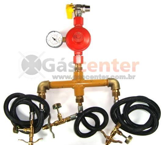 Central de Gás GLP - 3 P13 - Regulador ALIANÇA ALTA PRESSÃO 9Kg/h - Ref: 01554