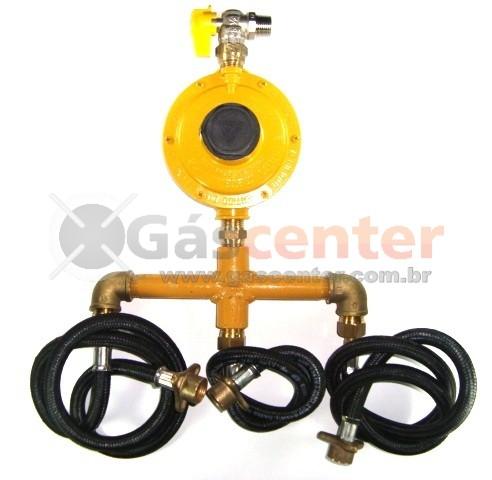 Central de Gás GLP - 3 P45-LIQUIGÁS - Regulador ALIANÇA 12Kg/h - Ref: 01559