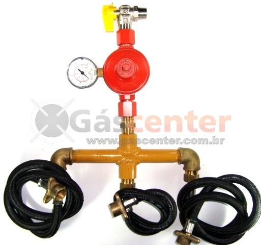 Central de Gás GLP - 3 P45-LIQUIGÁS - Regulador ALIANÇA ALTA PRESSÃO 9Kg/h - Ref: 01565