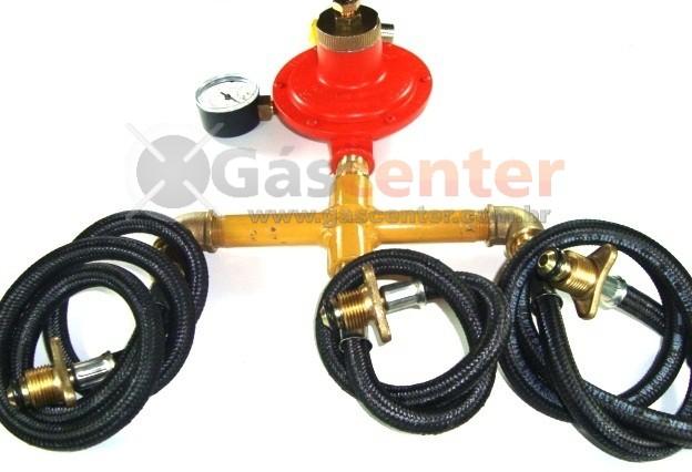 Central de Gás GLP - 3 P45 - Regulador ALIANÇA ALTA PRESSÃO 15Kg/h - Ref: 01556