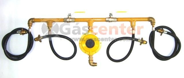Central de Gás GLP - 4 P45 - Regulador Aliança 12Kg/h - Ref. 01363