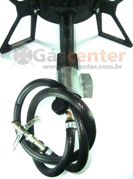 Fogareiro Industrial TRIPÉ REAL Ferro Fundido Alta Pressão com Instalação - 1 BOCA - Ref. 00050