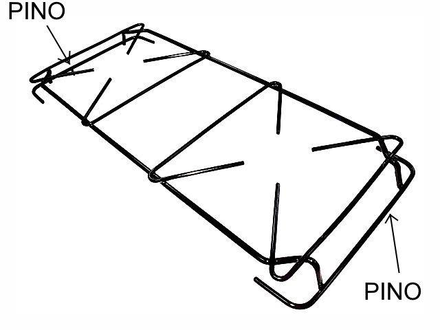 Grade ATLAS GRÉCIA MONACO SIEN DESENHO RETO - Pino Lateral Diagonal - 45,4cm x 18,3cm - Ref. 02933