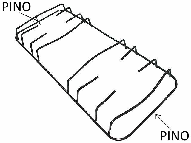 Grade ESMALTEC ANGRA RUBI - Pino Central - 43cm x 18,2cm - Ref. 02934
