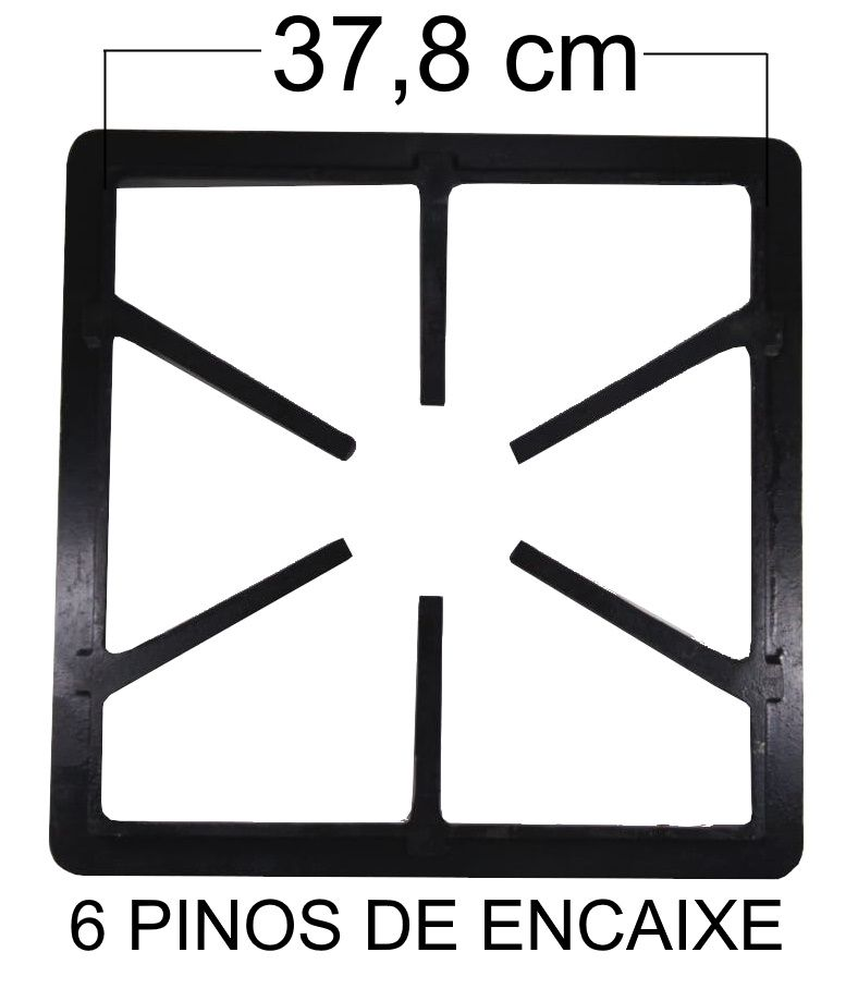 Grade Fogão Industrial 40x40 - 6 Braços - PG - Ref. 02020
