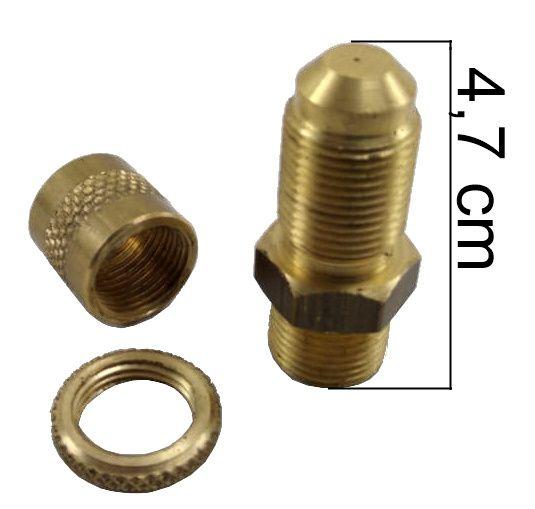 """Injetor ALFA 47mm com Luva e Porca - 3/8""""NPT(M) - Furo 0,60mm - Ref. 00264"""