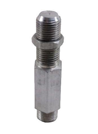 "Injetor ALUMÍNIO 50mm - 1/8""NPT(M) - Furo 0,60mm - Ref. 02273"