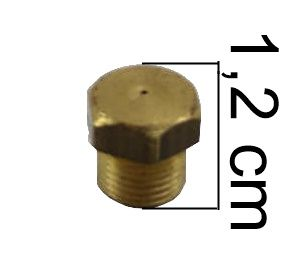 "Injetor Industrial BRASIL ANTIGO 12mm - 1/8""NPT(M) - Furo 0,60mm - Ref. 00907"