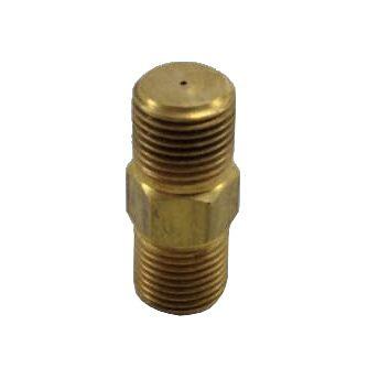 """Injetor INDUSTRIAL 25mm - 1/8""""NPT(M) - Furo 0,60mm - Ref. 02777"""
