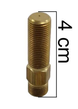 """Injetor INDUSTRIAL 40mm - 1/8""""NPT(M) - Furo 0,60mm - Ref. 02776"""
