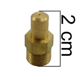 "Injetor Industrial BICO FINO 20mm - 1/8""NPT(M) - Furo 0,60mm - Ref. 01276"