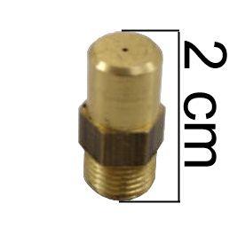 "Injetor Industrial LISO PEQUENO 20mm - 1/8""NPT(M) - Furo 0,60mm - Ref. 01277"