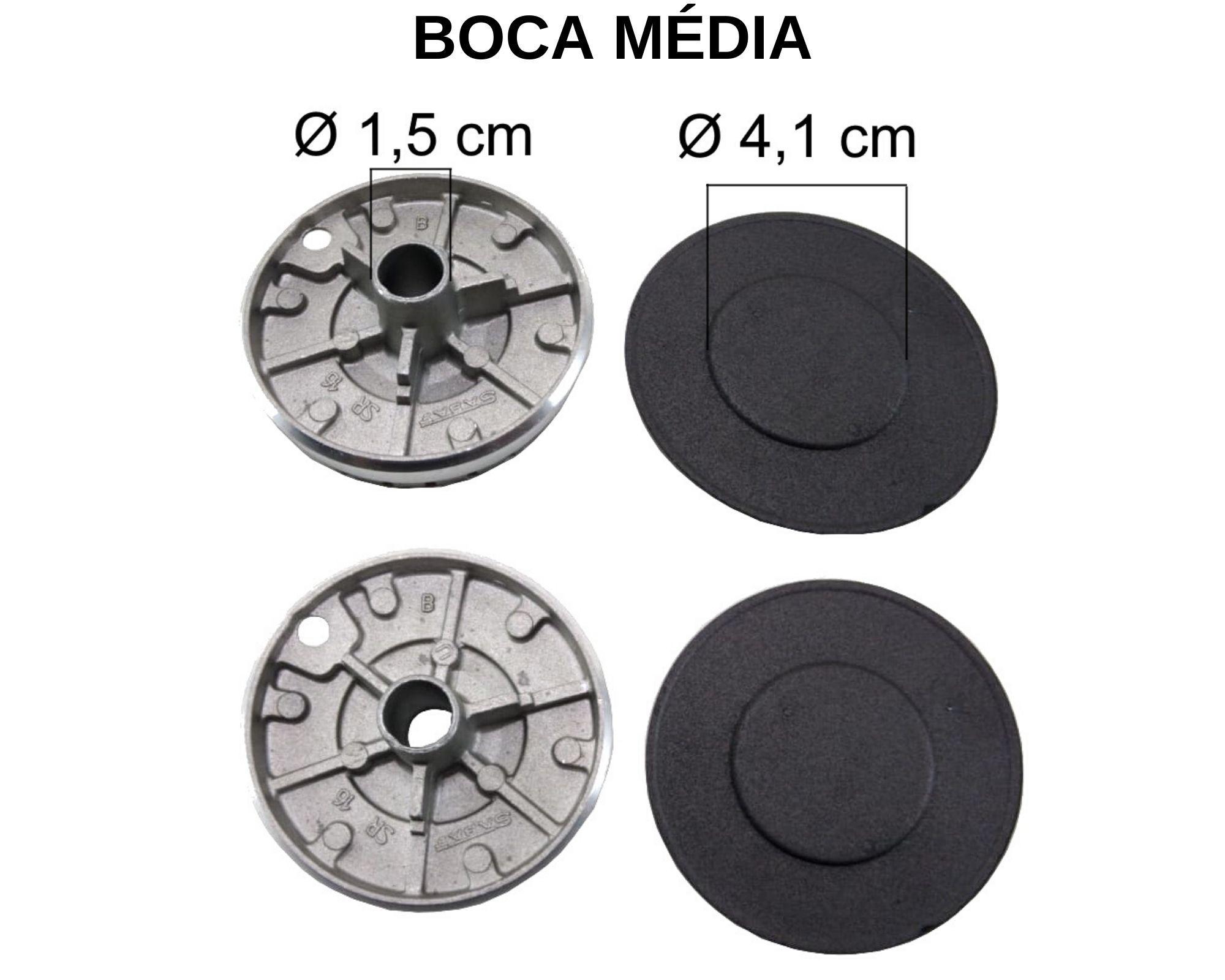Kit Queimadores Fogão COOKTOP FISCHER 4 Bocas - Ref. KQFCF4B