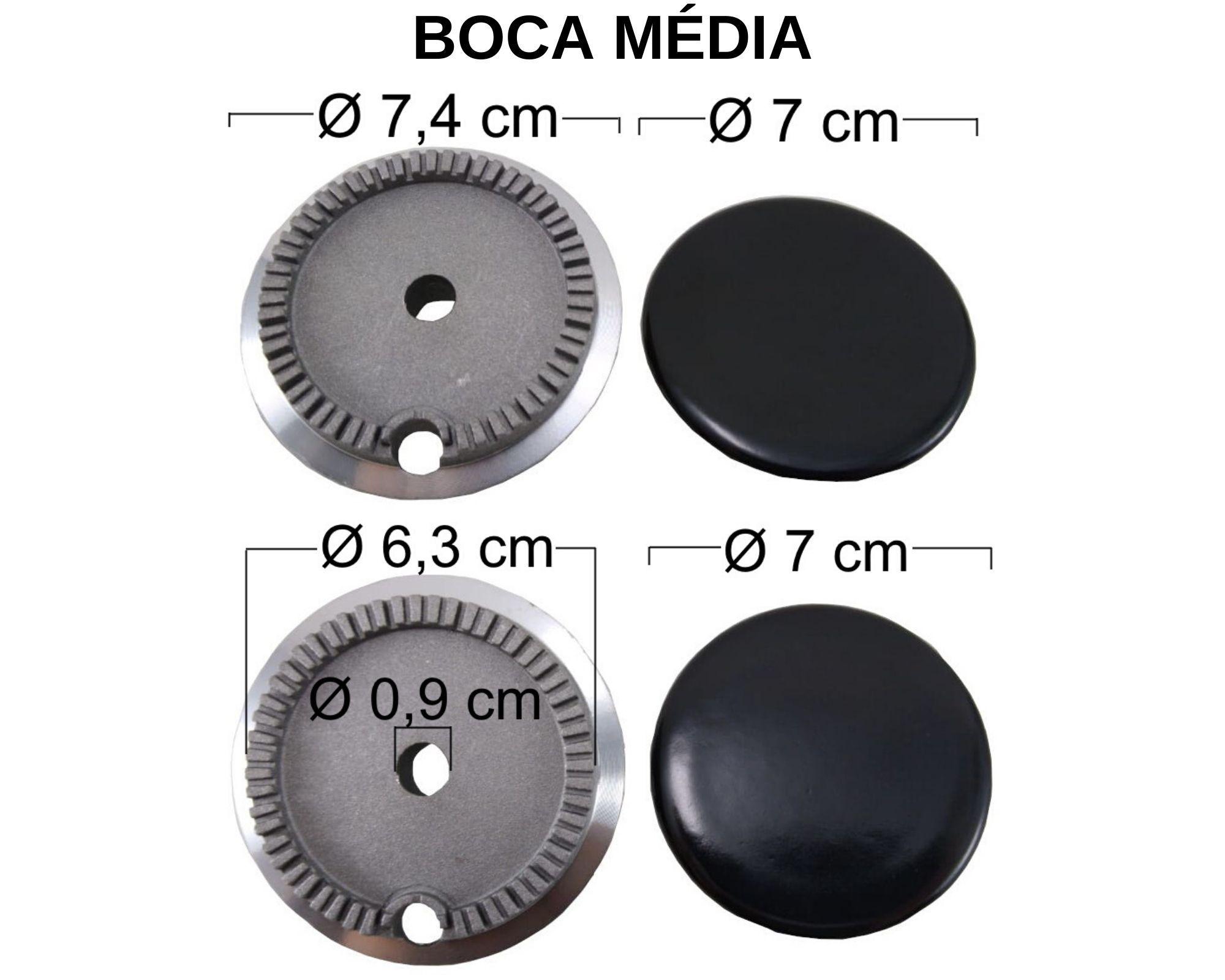 Kit Queimadores Fogão ELECTROLUX 4 Bocas - Ref. KQFE4B
