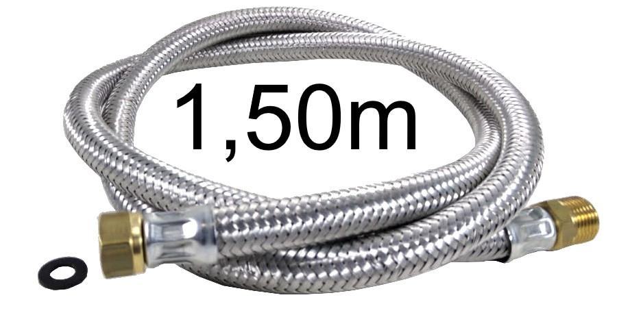 """Mangueira Flexível Malha de Aço 1/2"""" - 1,50m - Ref. 01984"""