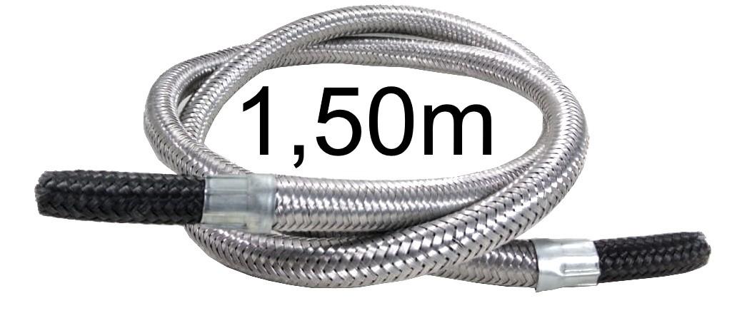 """Mangueira Flexível Malha de Aço 3/8"""" Bico x 3/8"""" Bico - 1,50m - Ref. 01689"""
