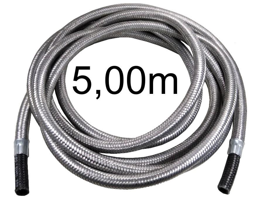 """Mangueira Flexível Malha de Aço 3/8"""" Bico x 3/8"""" Bico - 5,00m - Ref. 01819"""