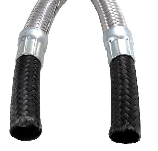 """Mangueira Flexível Malha de Aço 3/8"""" Bico x 3/8"""" Bico - 80cm - Ref. 01686"""